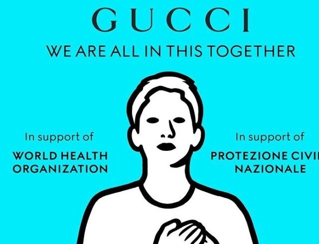 Gucci пожертвовали 2 миллиона евро на борьбу с коронавирусом